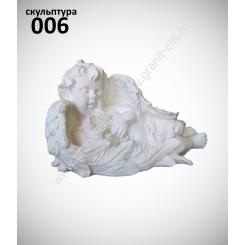 """Скульптура 006 """"Ангел с зайцем"""""""