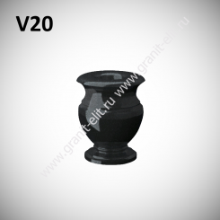 Ваза гранитная V20, черная
