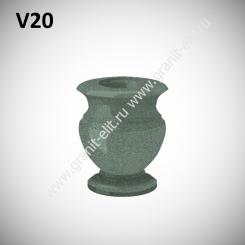 Ваза гранитная V20, зеленая