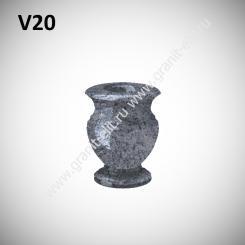 Ваза гранитная V20, голубая
