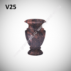 Ваза гранитная V25, коричневая