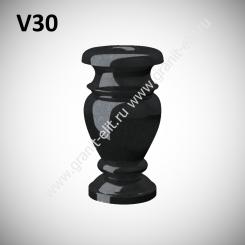 Ваза гранитная V30, черная
