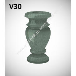 Ваза гранитная V30, зеленая