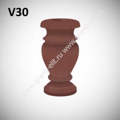 Ваза гранитная V30, красная